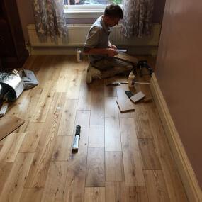 Floor fitter by Cheadle Floors