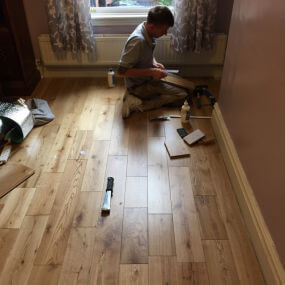 Floor fitter by Cheadle Floors
