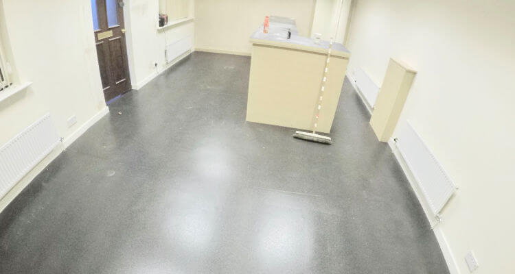 Commerical Flooring fitted in Manchester shop front premises