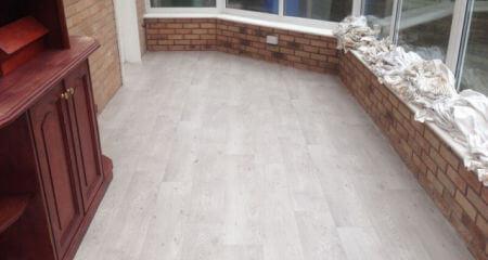 Conservatory floor in Heald Green