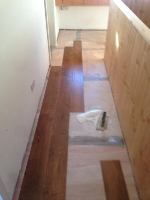 Karndean Floor being fitted in Bramhall