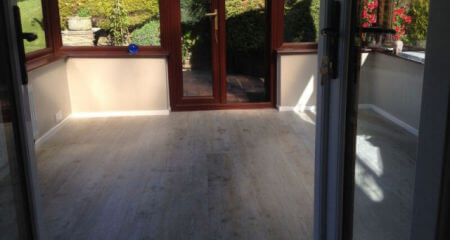 New conservatory flooring in Mossley