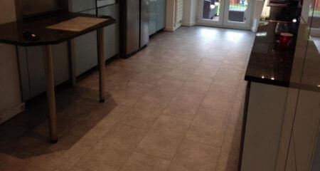 New kitchen floor installed in Bramhall