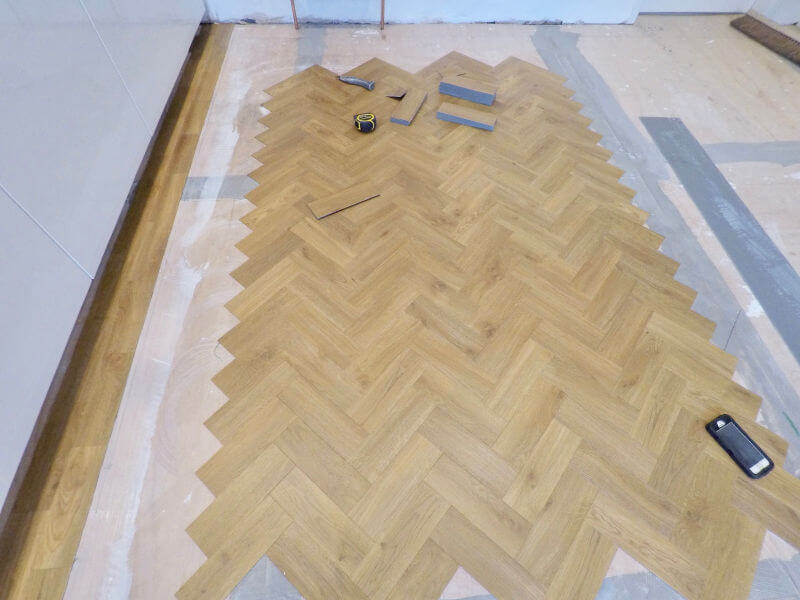 Amtico Floor being fitted in Marple Stockport