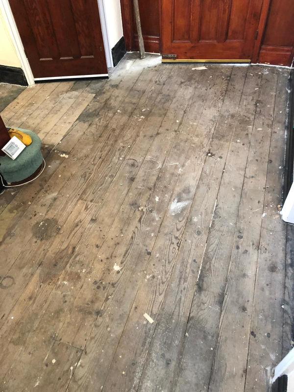 Old hallway flooring