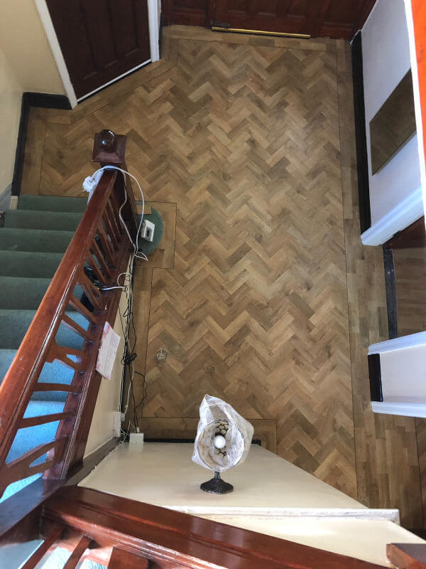 Karndean Art Select Blonde Oak Parquet Floor