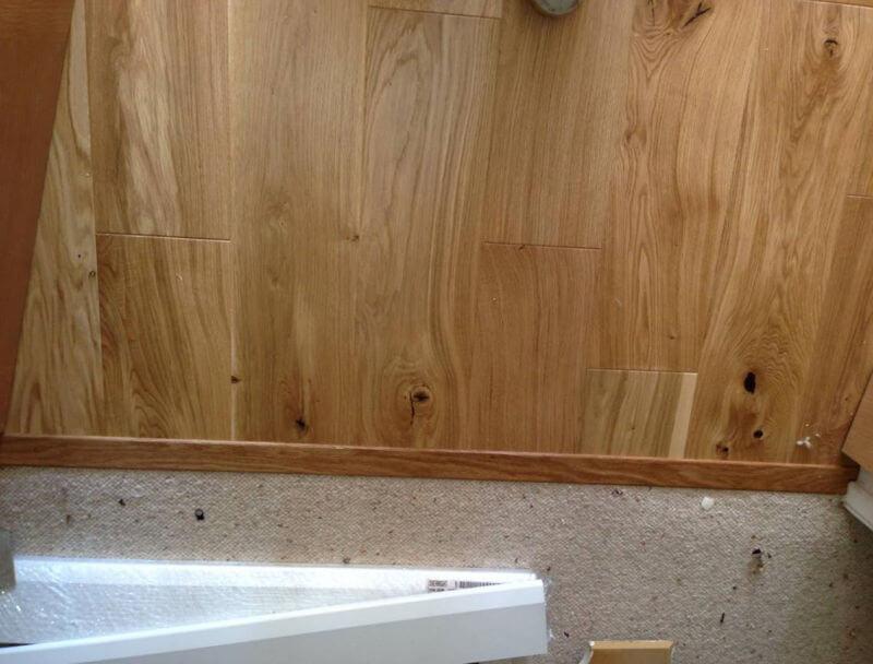 New wooden floor