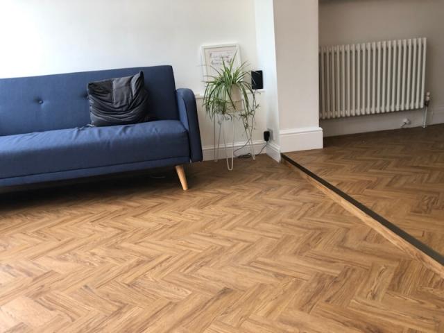 Neobo Wild Barley Parquet flooring being in Prestbury