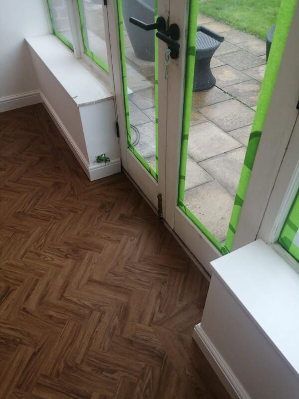 Neobo Wild Barley Parquet flooring fitted in Prestbury