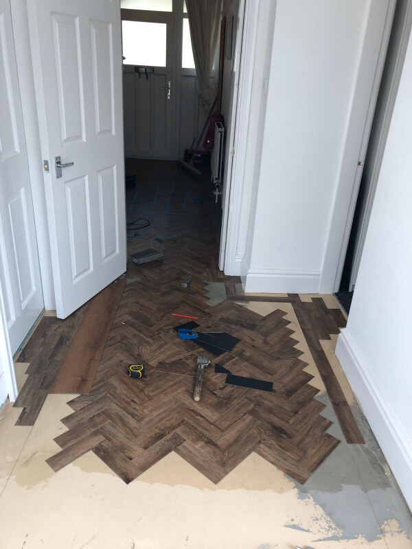 Polyflor Camaro Georgia Luxury Vinyl Tiles being in fitted Macclesfield