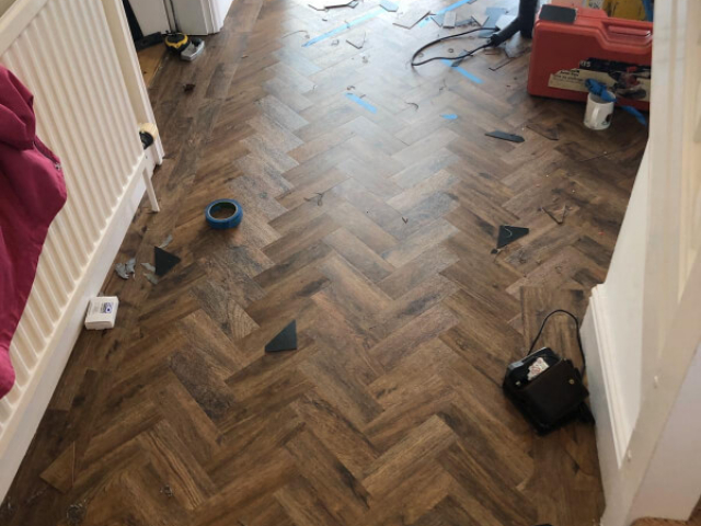 Polyflor Camaro Georgia Luxury Vinyl Tiles fitted in Macclesfield