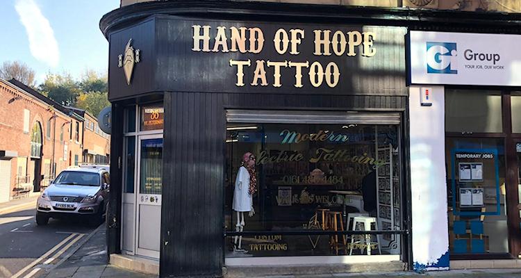 Hand of Hope tattoo shop