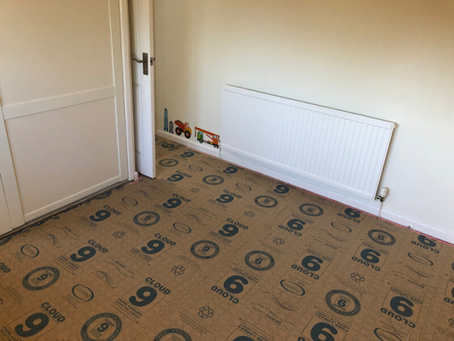 Cloud 9 underlay fitted by Cheadle Floors