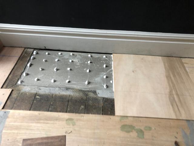 Floor preparation for new parquet flooring