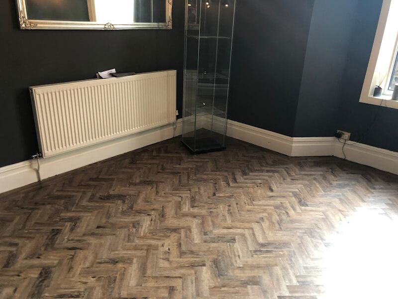 New parquet flooring in Chorlton