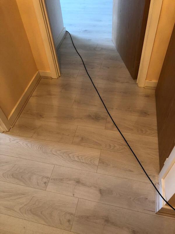 Dartmoor oak laminate installed in the hallway