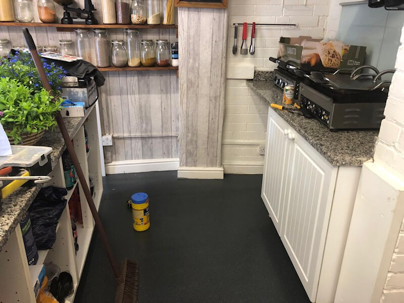 New safety flooring installed by Cheadle Floors