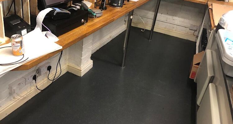 New safety flooring installed by Cheadle Flooring