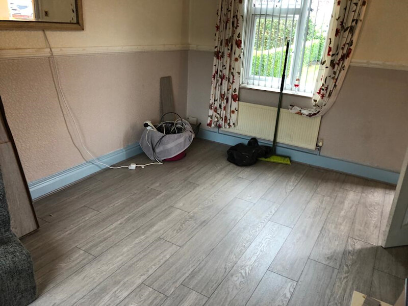 New Laminate Flooring Installed in Marple Bridge