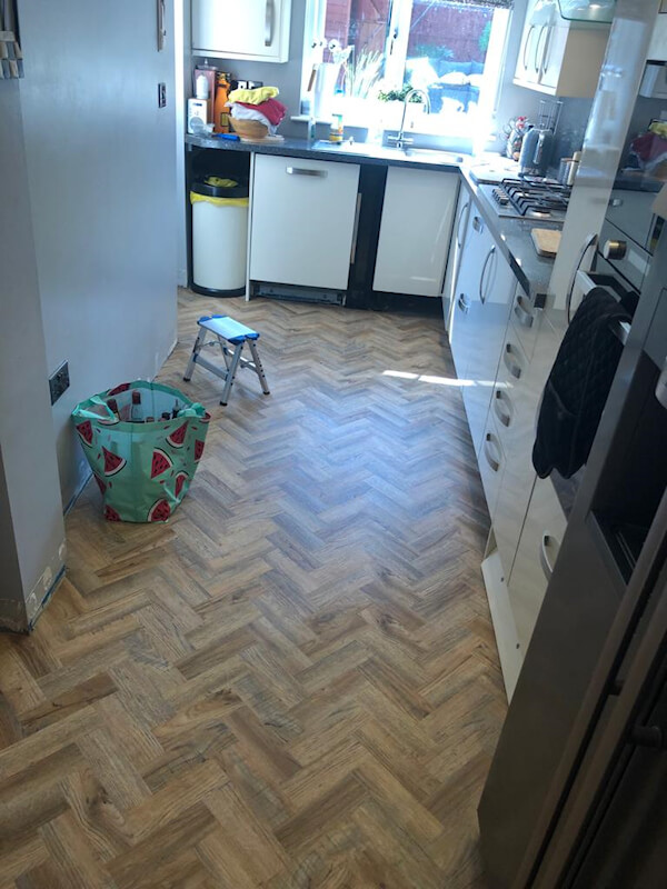 New luxury vinyl tile flooring