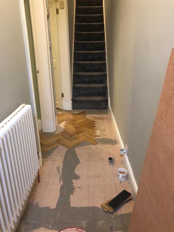 Karndean Art Select Blonde Oak Floor Being Fitted