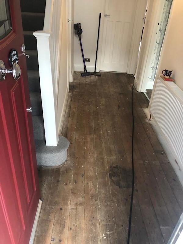 Existing floorboards