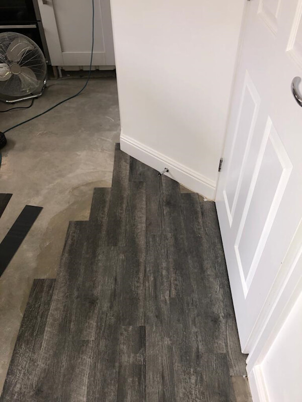 New Amtico flooring being fitted