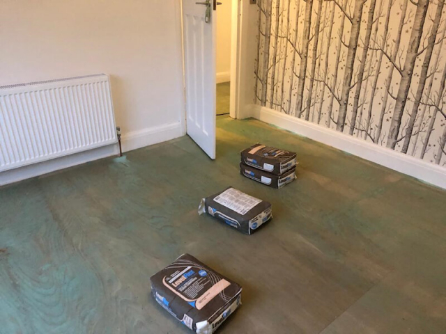 Level Flex Smoothing Compound as the floorboards where very uneaven