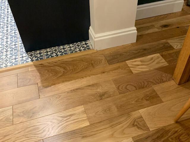 Wood flooring in Woodley